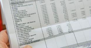 Feuille de salaire salaire net
