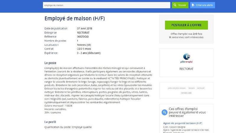 Sites Web pour chercher un emploi